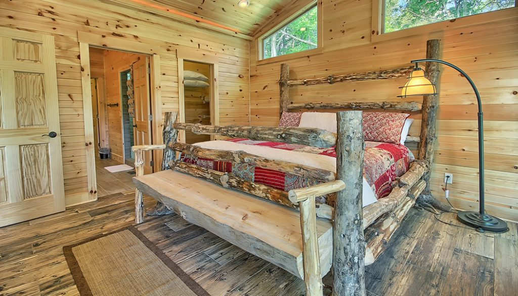 Bookers Cabin Bedroom view